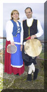 "Couple of dancers of the Folk Group ""LA BASULATA"" wearing the typical costume - Ph. © 2002 ANTONIO ZAPPOLI"